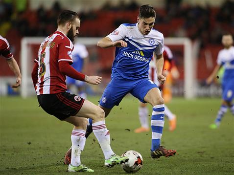 Joe Newell v Sheffield United 2