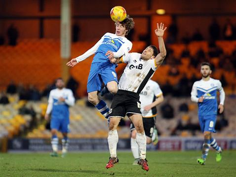 Luke James v Port Vale 2