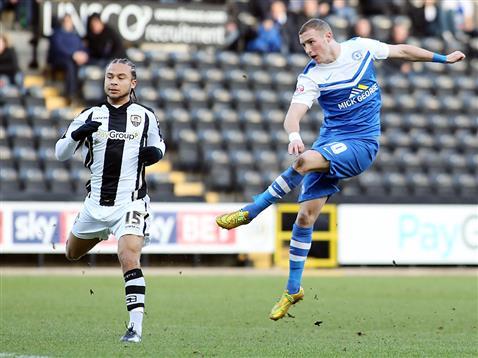 Marcus Maddison strikes for goal v Notts County 2