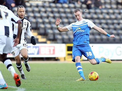 Marcus Maddison strikes for goal v Notts County