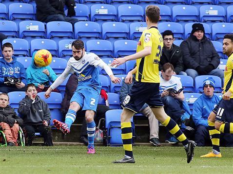 Michael Smith crosses for goal number 1 v Rochdale