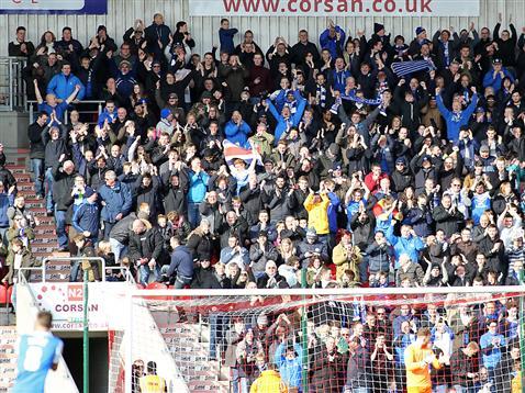 Posh fans at Doncaster