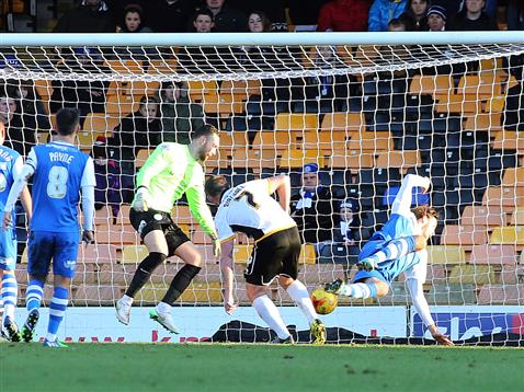 Scott Loach concedes goal number 1 v Port Vale