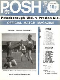 1974-09-21 Posh v Preston Programme