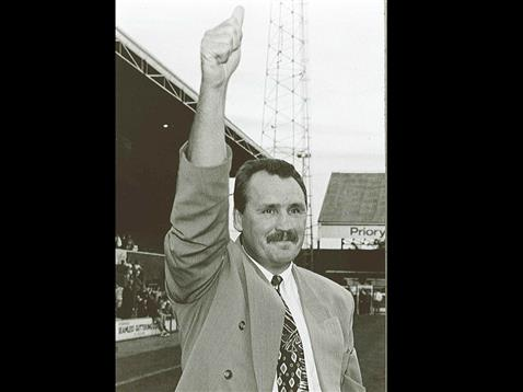 Chris Turner acknowledging the Posh fans at London Road