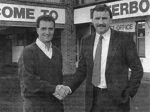 Chris Turner and Lil Fucillo outside London Road