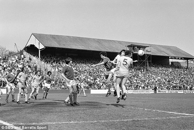 Chris Turner heads the ball away against Millwall in 1976
