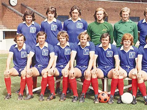 Chris Turner in his younger days in a Posh team photo