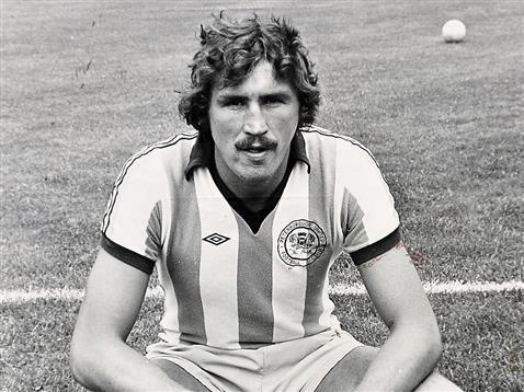 Chris Turner in the john Barnwell era wearing Argentina style shirt