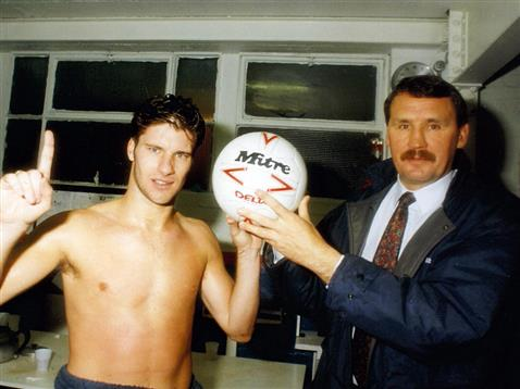 Chris Turner with the matchball that beat Liverpool