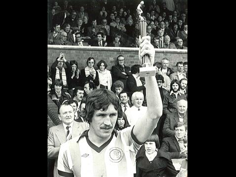 Chris Turner with trophy at London Road