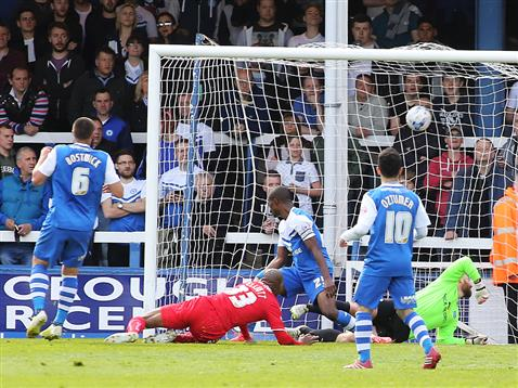 Crawley open the scoring with their first shot on target v Posh