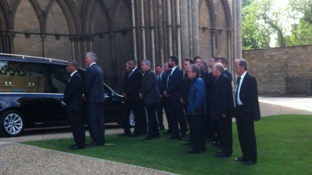 Former Posh players awaiting Chris Turners coffin