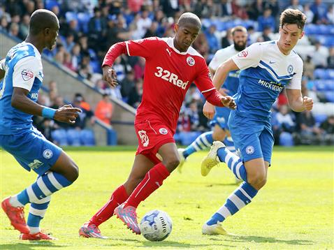 Gaby Zakuani and Joe Newell v Crawley