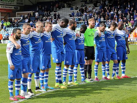 Minute silence for the Bradford Fire disaster v Crawley
