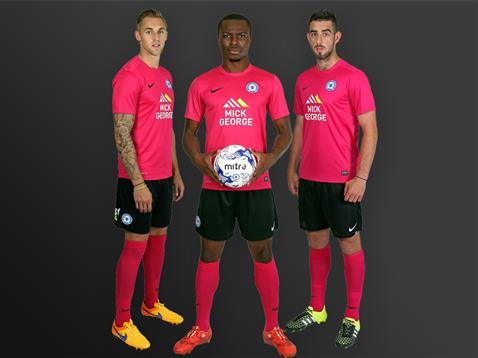 Posh away kit 2015-16 - cherry volt