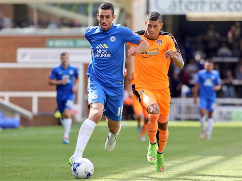 Joe Gormley v Matt Briggs of Colchester