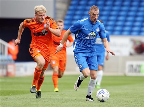 Marcus Maddison in the goalless pre-season draw with Ipswich Town 2015-2016