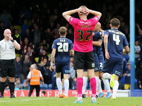 Referee Simon Hooper blows time on a disappointing televised defeat at Southend