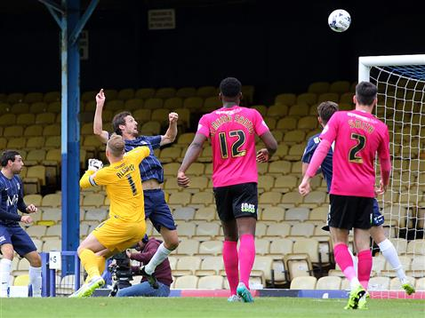 Ben Alnwick fails to stop an attempt by Southend
