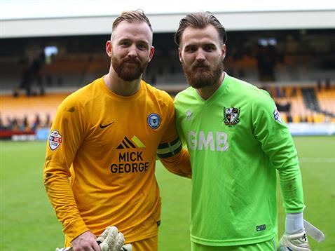 Ben Alnwick with brother Jak after the 1-1 draw with Port Vale