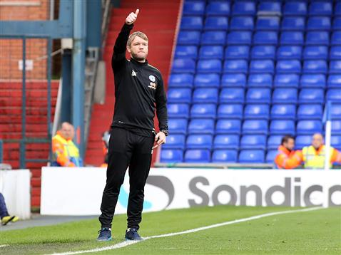 Grant McCann on his first team managerial debut v Oldham