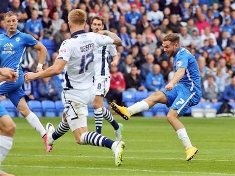 Jon Taylor hits his first goal v Millwall 2
