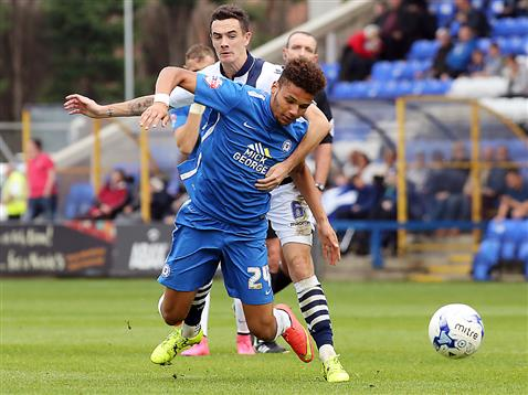 Lee Angol brought down v Millwall