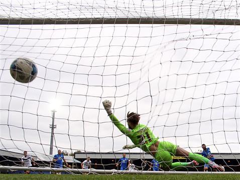 Michael Bostwick equalises v Port Vale