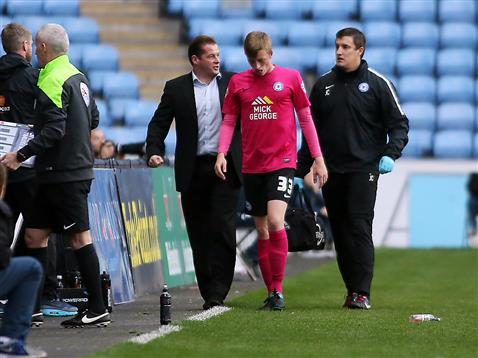 Chris Forrester cant continue v Coventry