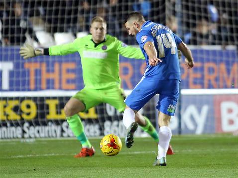 Conor Washington opens the scoring v Shrewsbury