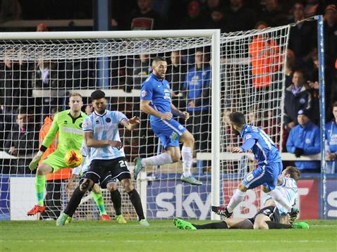 Erhun Oztumer misses the target again v Shrewsbury