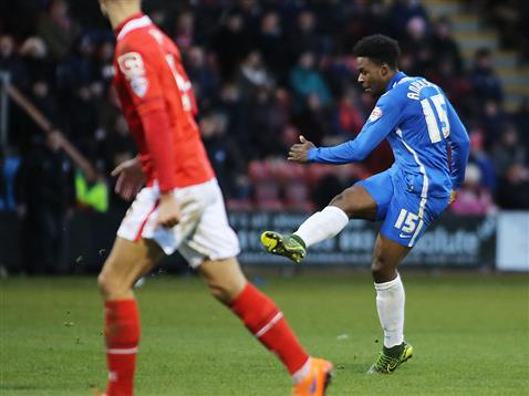 Jermaine Anderson strikes goal 3 v Crewe