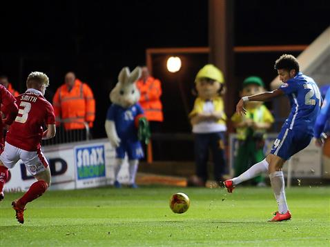 Lee Angol scores goal 1 v Barnsley