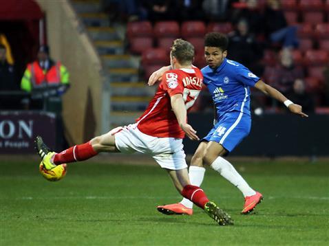Lee Angol side foots goal 4 v Crewe