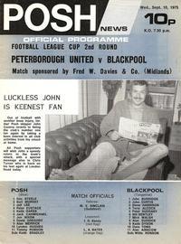 10-Sep-1975 - Posh 2v0 Blackpool programme