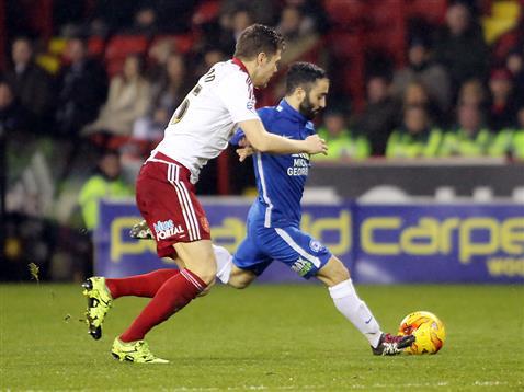 Erhun Oztumer strikes goal two v Sheffield United