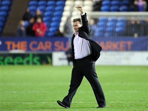 Graham Westley after the Boxing Day win v Chesterfield