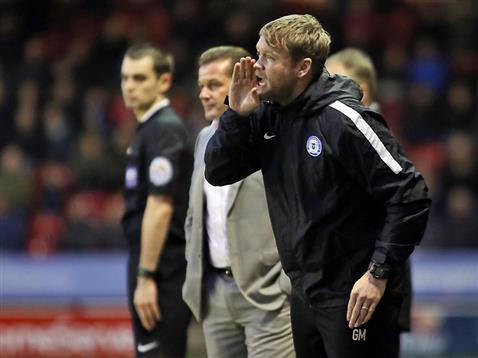 Grant McCann gives instructions v Walsall