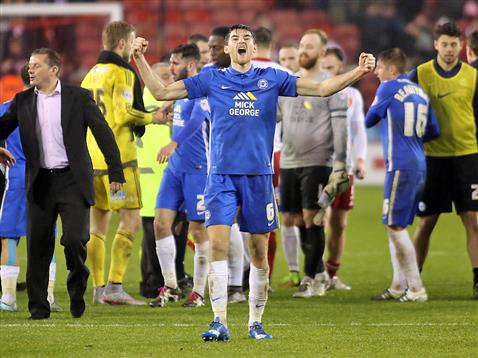Jack Baldwin celebrates the win over Sheffield United