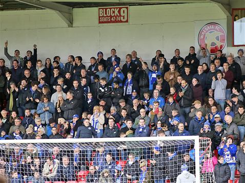 Over 1000 Posh fans made the trip to Walsall