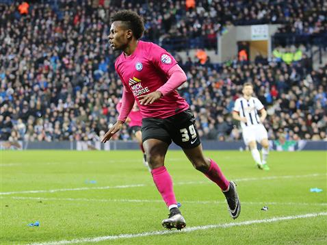 Shaq Coulthirst opens his scoring account for Posh v WBA