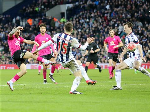 WBA cant stop Jon Taylors goalbound effort