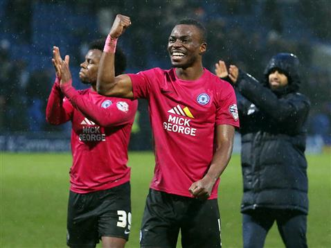 a jubilant Gaby Zakuani on his return from injury v Chesterfield