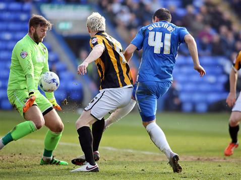 Aaron Williams goes close again v Port Vale