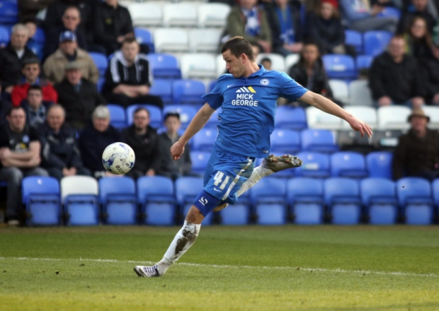 Aaron Williams scores on his full Posh debut v Port Vale