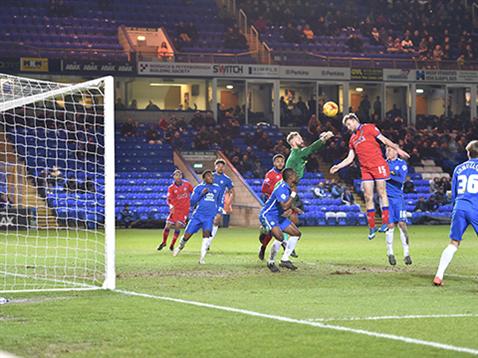 Ben Alnwick misses a corner again v Oldham