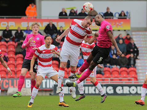 Gaby Zakuani and Chris Forrester v Doncaster