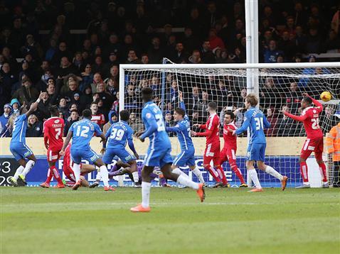 Gaby Zakuani had a goal disallowed v Swindon