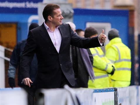 Graham Westley ahead of the Chesterfield match